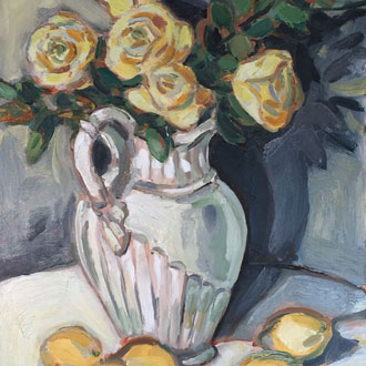 Yellow Roses with Lemons I